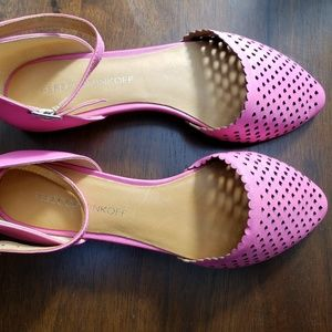 Rebecca Minkoff Pink Mary Jane Cut Out Flats NWOT